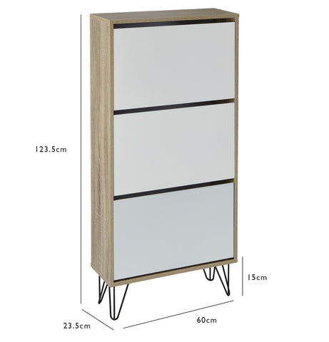 Anderson shoe cabinet - white - laura James