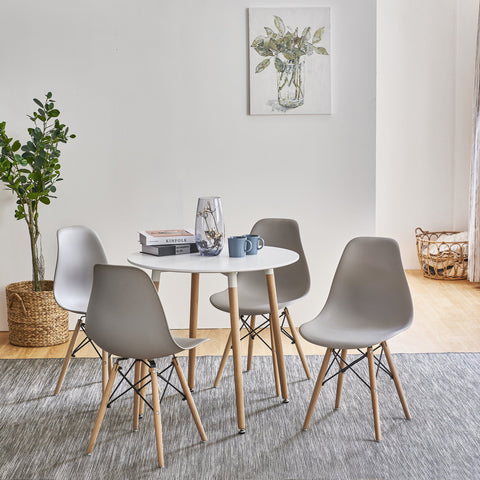 Inge round dining set with 4 chairs