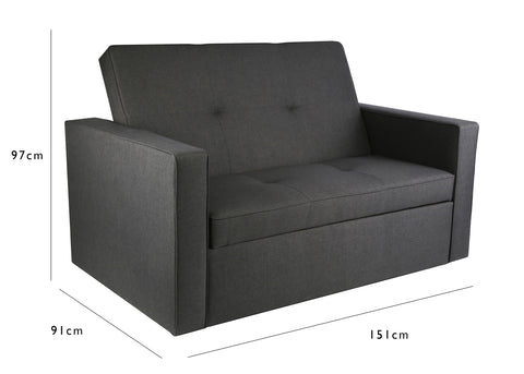 troy pull out sofa bed grey