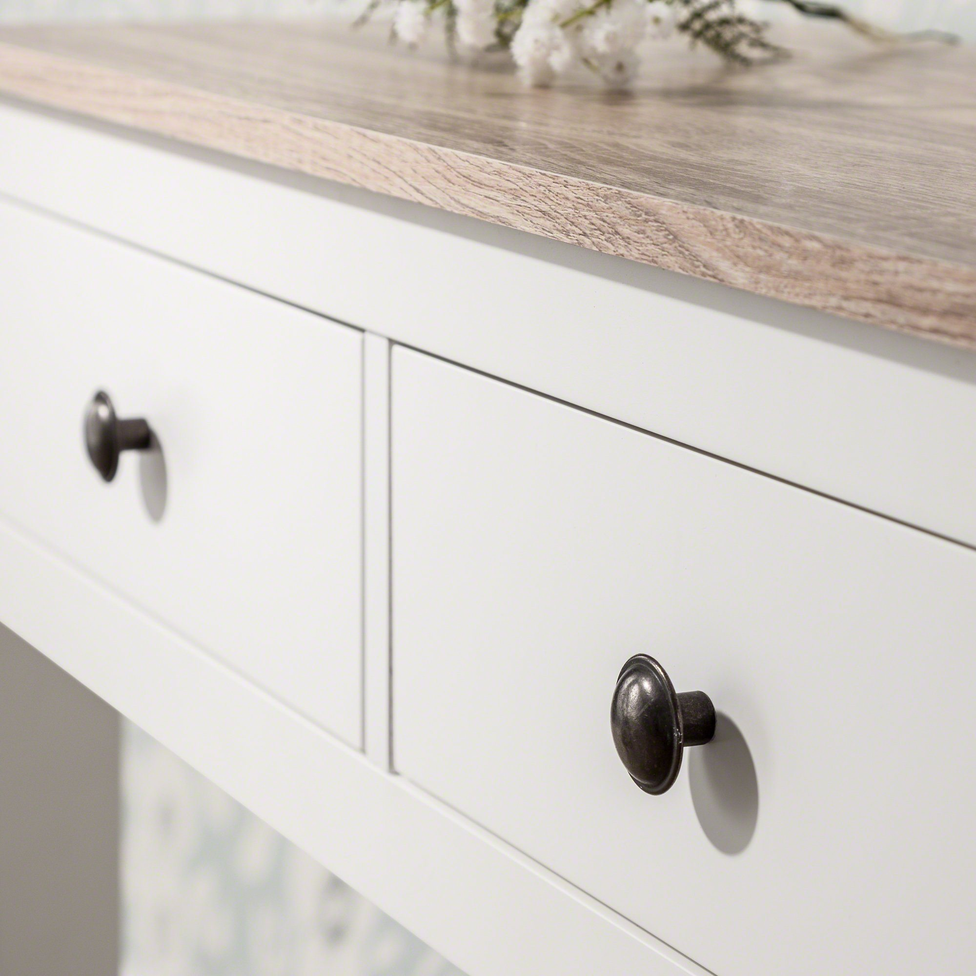 Picture of: Console Table 3 Drawers Wood Laura James