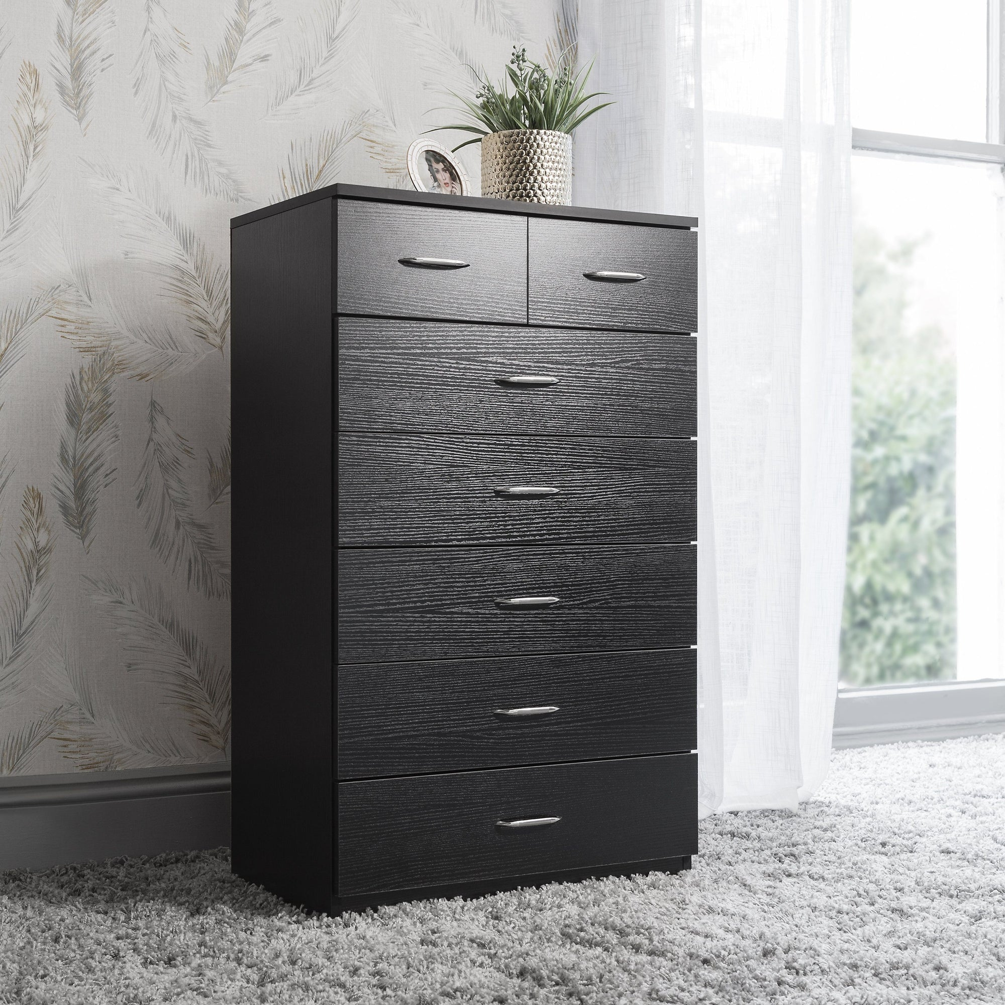 brand new 39de6 4ca59 7 Drawer Tall Chest of Drawers in Black