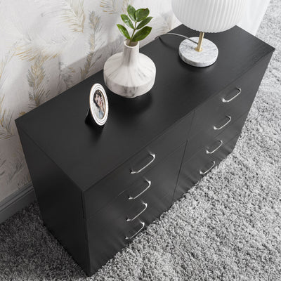 8 Drawer Chest in Black - Laura James