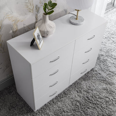 8 Drawer Chest in White - Laura James