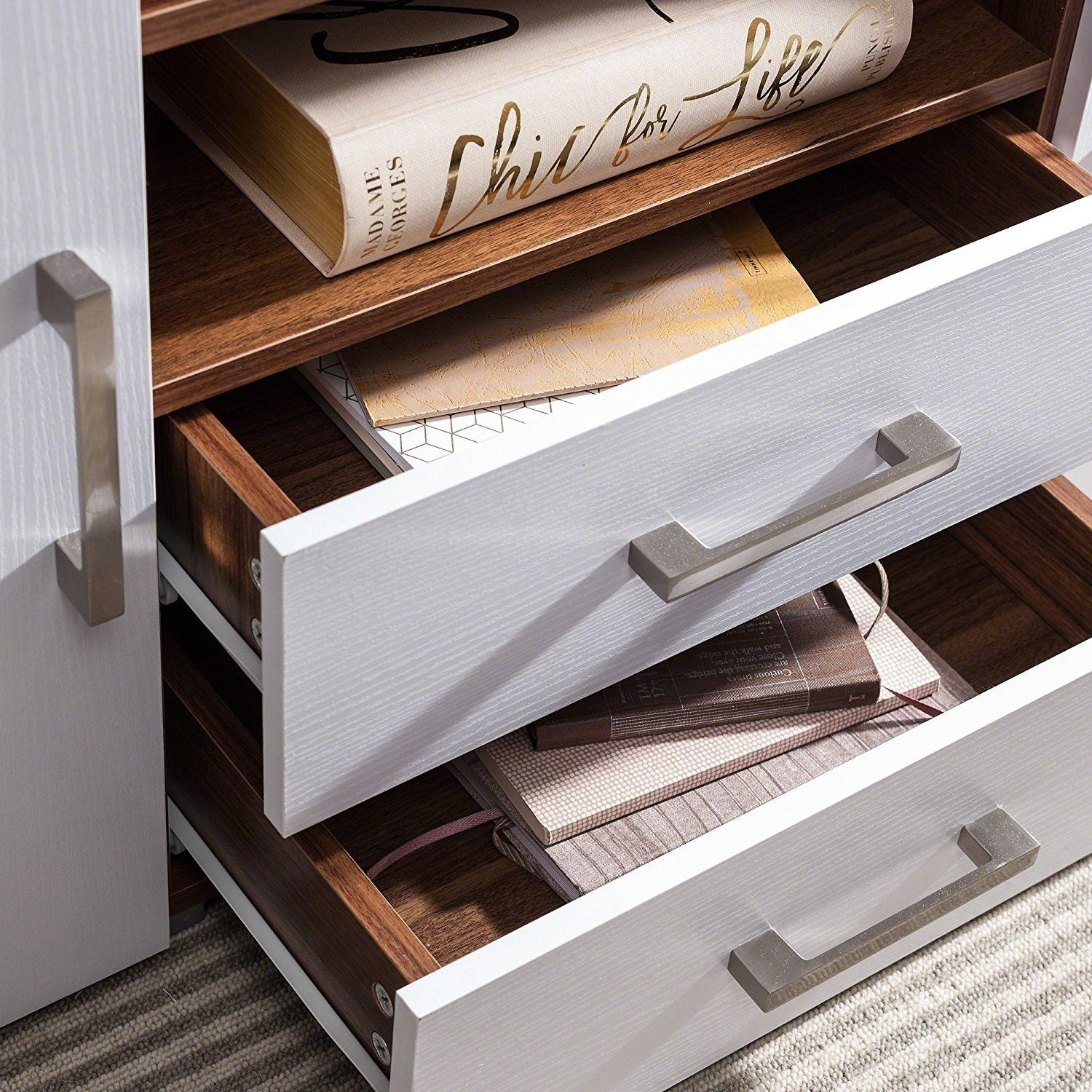 drawers shelf international white home take skinny with console and drawer me table
