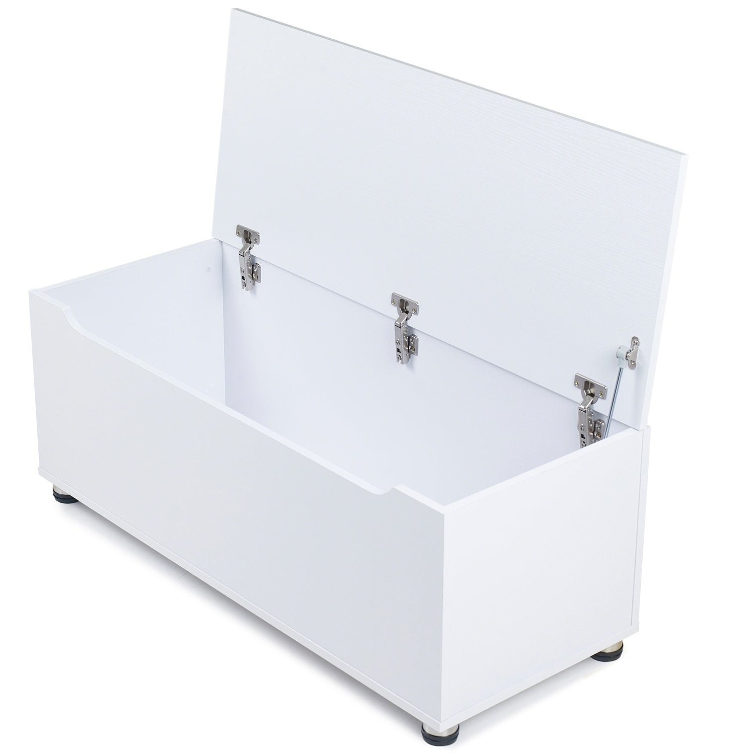 White Wooden Storage Chest - Blanket Box - Toy Chest - Laura James