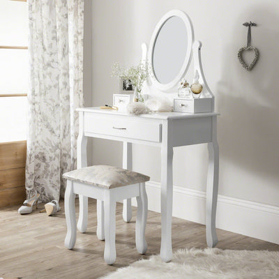Amalfi Dressing Table, Mirror & Stool Set - Laura James