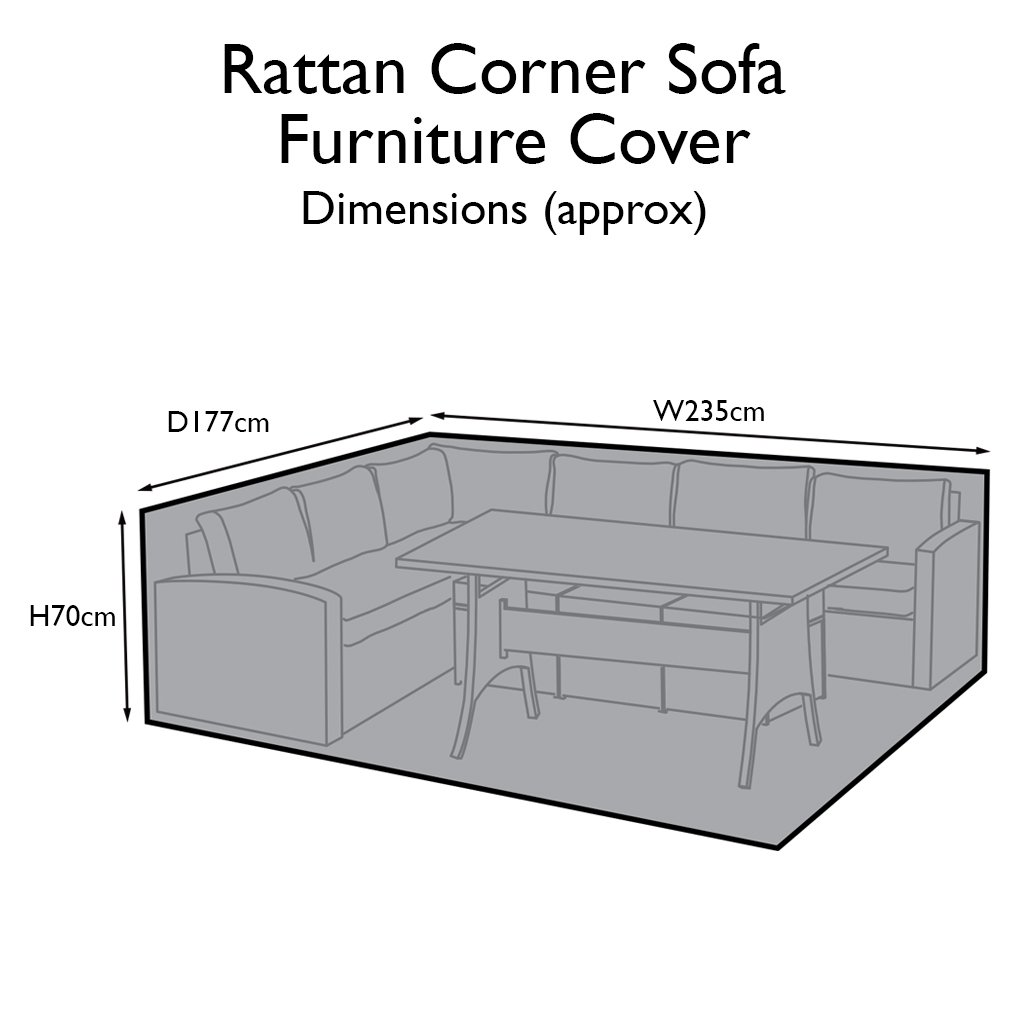 Outdoor Rattan Furniture Cover for  9 Seater Corner Sofa Set - Laura James