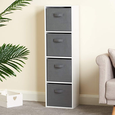 4 Tier Storage Unit / White Bookcase - In Stock Date - 1st April 2020 - Laura James