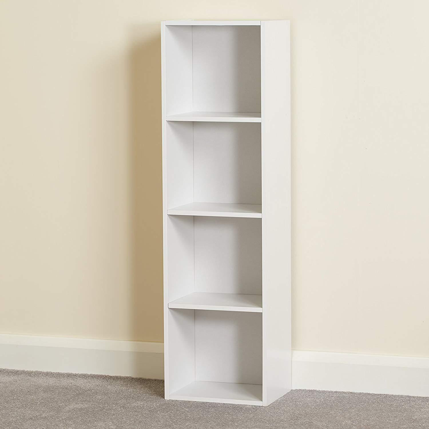 quality design 8fd7b 8d02b 4 Tier Storage Unit / White Bookcase