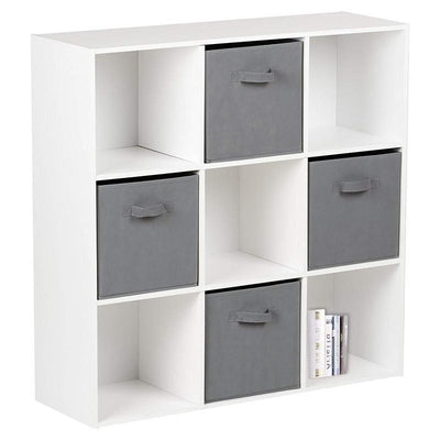 9 Cube Storage Unit & 4 Grey Handled Box Drawers - In Stock Date - 1st April 2020 - Laura James