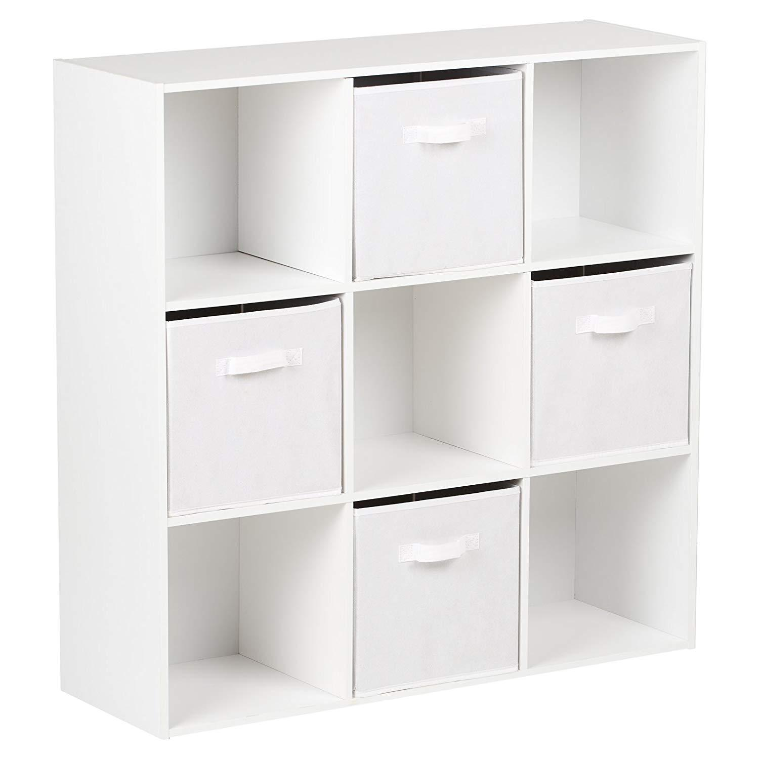 premium selection c20c8 4395a 9 Cube Storage Unit / White Bookcase