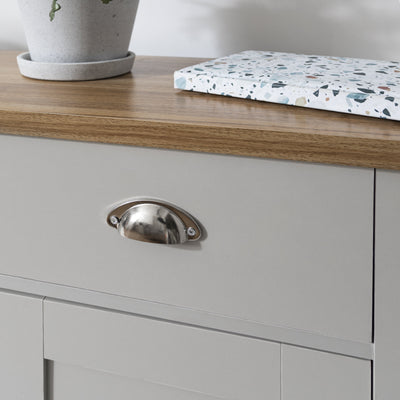 Bampton Sideboard with 3 Drawers Grey - Laura James