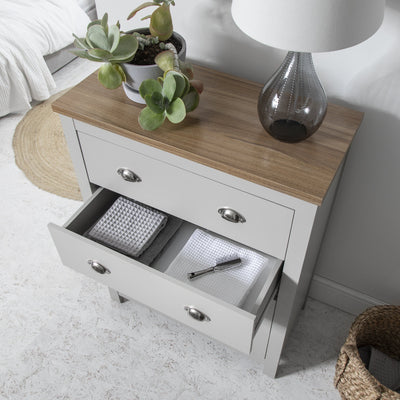 Chest of 4 Drawers in Grey - Bampton - Laura James