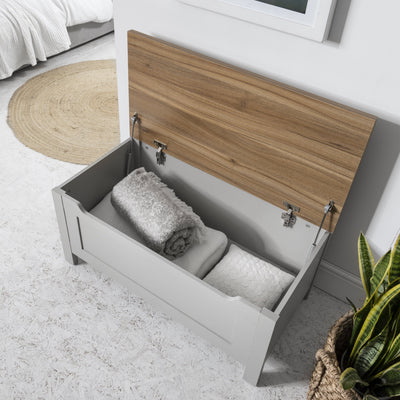 Bampton Grey Blanket Box - Storage Chest