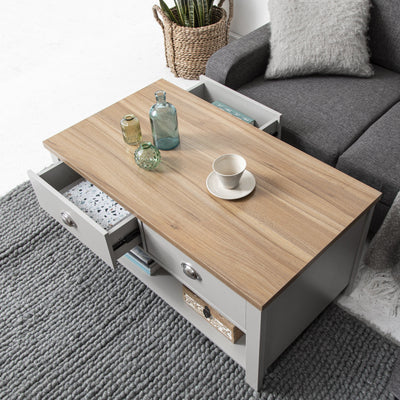 Bampton Grey Coffee Table - Laura James