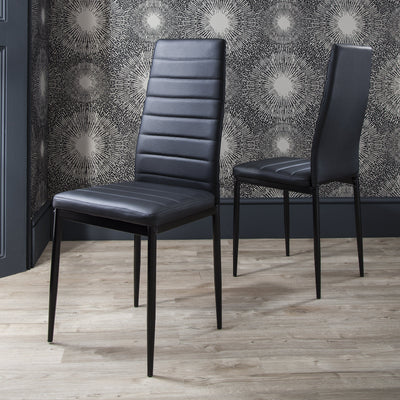 Glass Dining Table Set and 6 Black Chairs Set - In Stock Date - 18th May 2020 - Laura James
