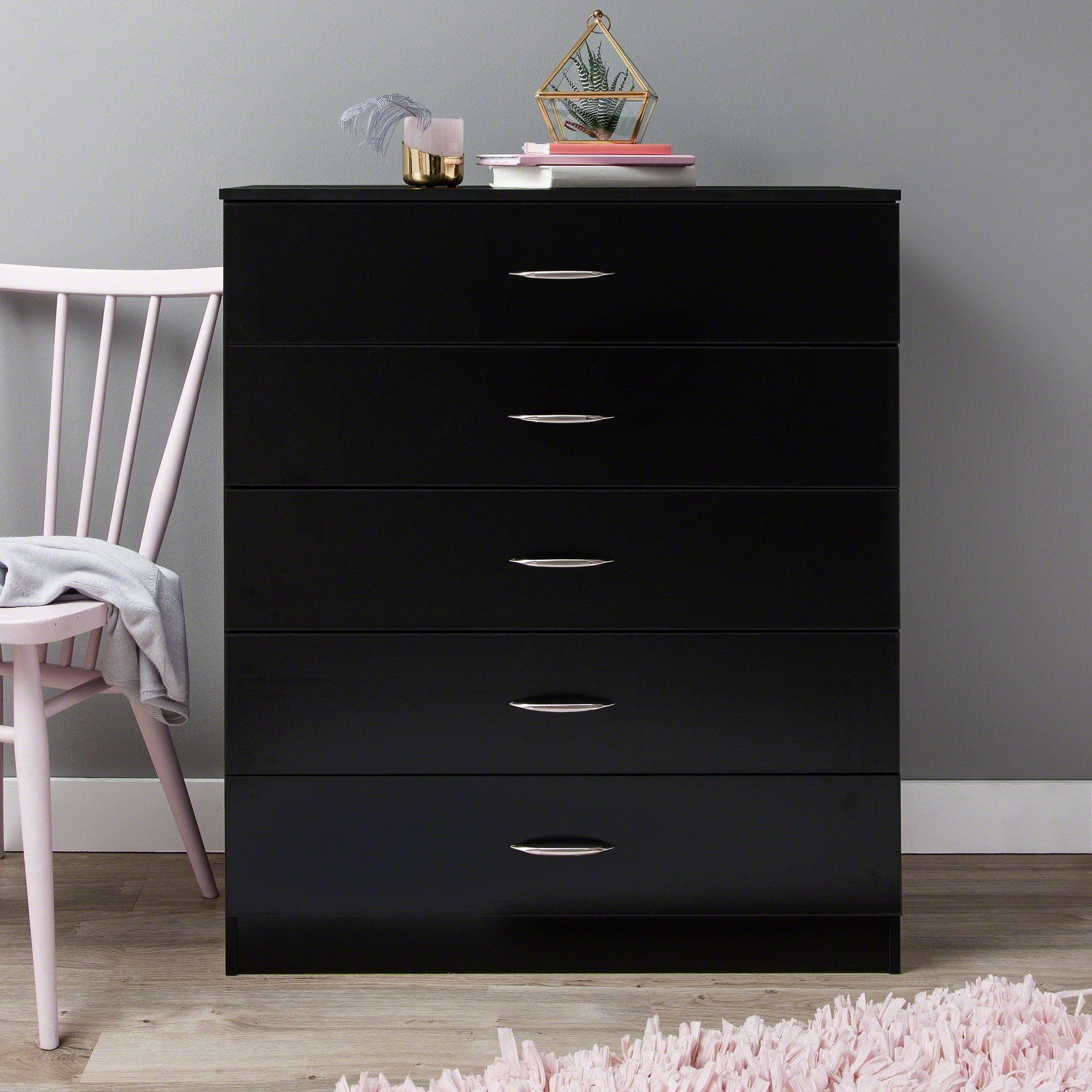 Chest of Drawers - Black - In Stock Date - 29th January 2020
