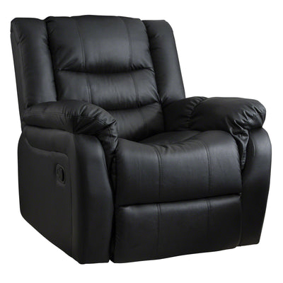 Laura James - Manual Recliner Armchair in Black- Bonded Leather (Oxford Model) - Laura James