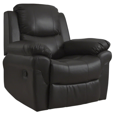 Recliner Armchair Brown - Bonded Leather - Laura James