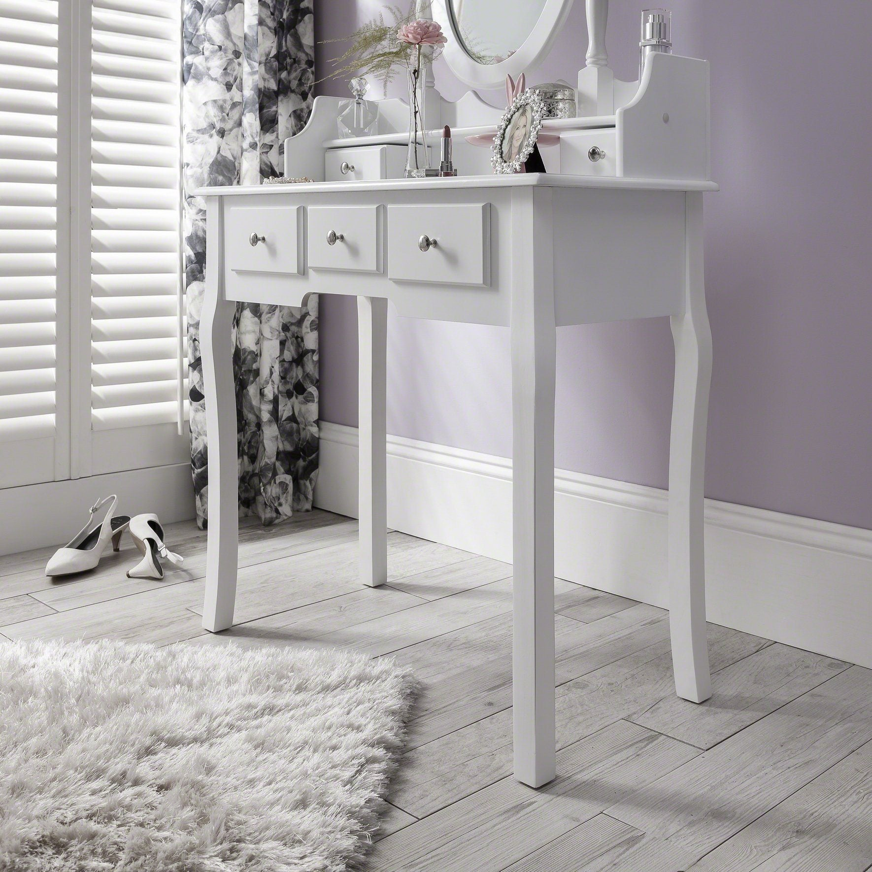 Sensational Capri White Dressing Table Stool Mirror Set Download Free Architecture Designs Ferenbritishbridgeorg