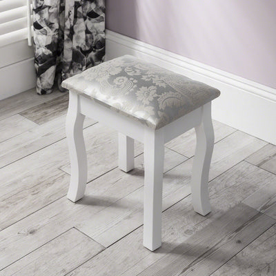 Capri Dressing Table, Stool & Mirror Set - White Painted - Laura James
