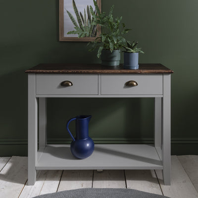 Chatsworth Console Table in Grey - Laura James