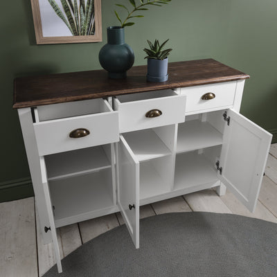Chatsworth Sideboard in White - Laura James