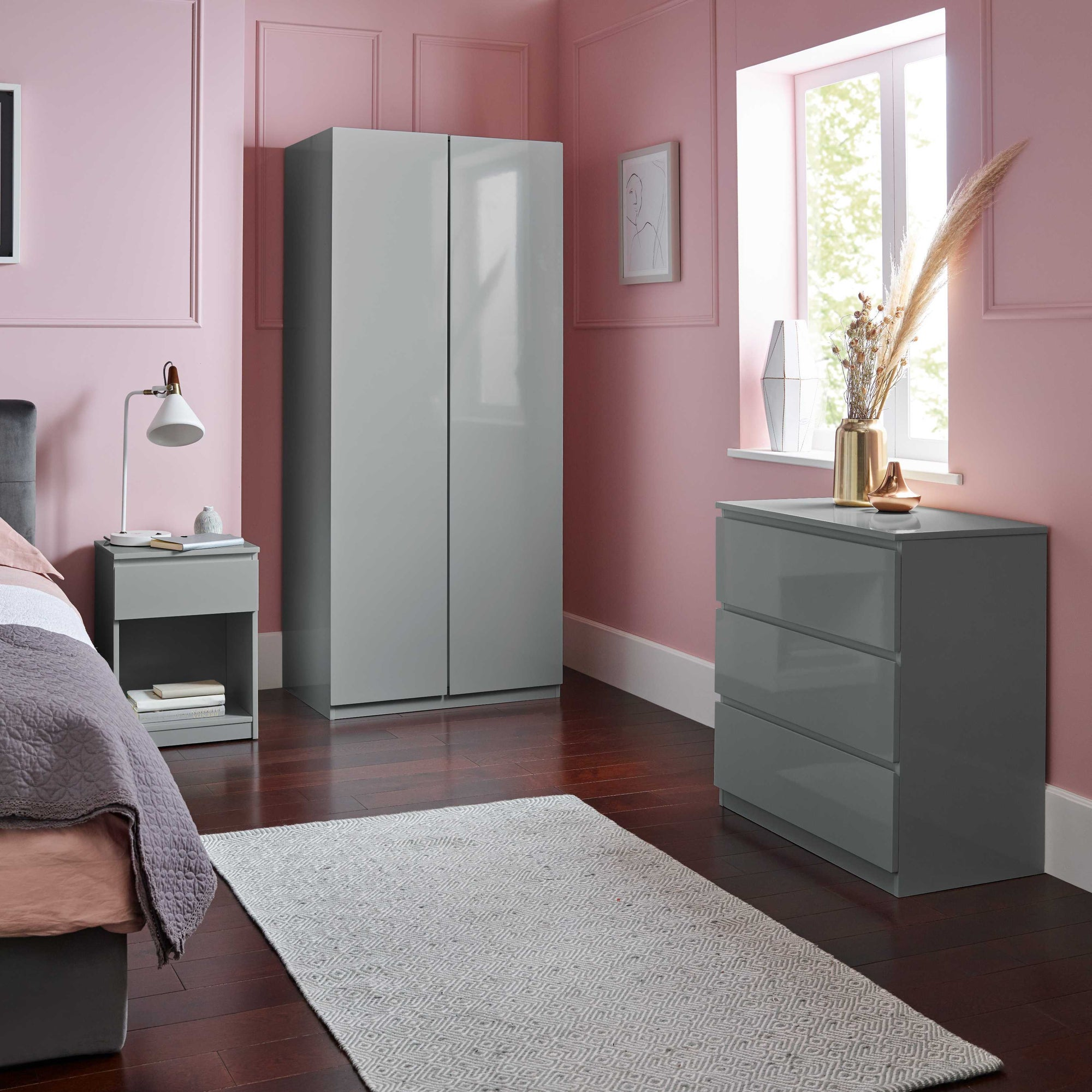 Clemmie bedroom furniture set - grey - Laura James
