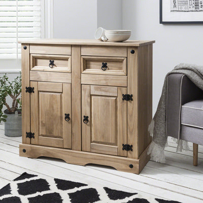 Wooden Sideboard - Solid Wood - 2 Drawers - Laura James