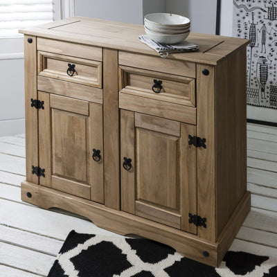 Corona Sideboard - Rustic, Solid Wood - 2 Drawers / 2 Doors - House of Cotswolds - Laura James