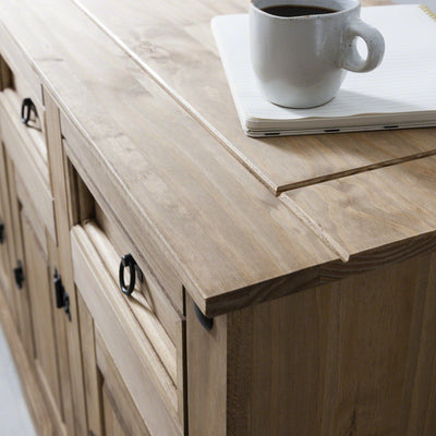 Sideboard - 3 Drawers 3 Doors - Solid Wood - Laura James