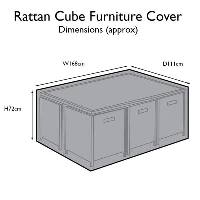 Outdoor Rattan Furniture Cover for 10 Seater Cube Dining Set - Laura James