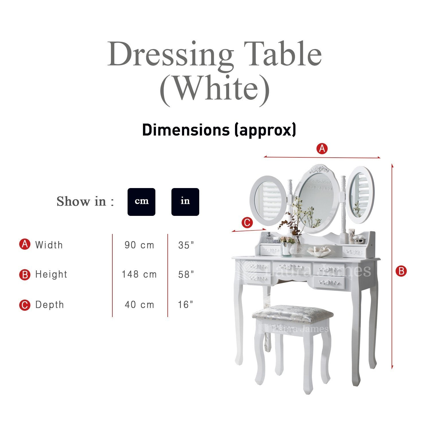 Incredible Monaco Dressing Table Stool Mirror Set White Painted Ncnpc Chair Design For Home Ncnpcorg