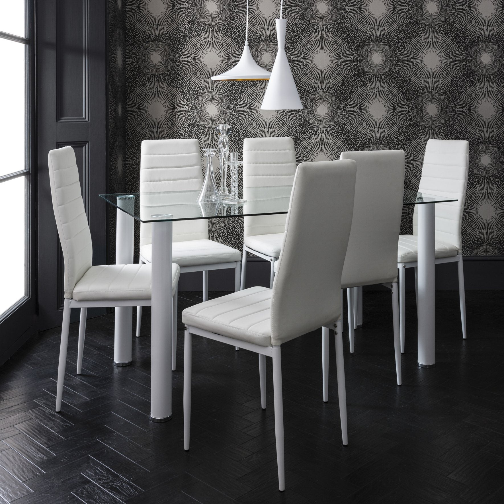 White Dining Table And Chairs 6 Seater Set Laura James