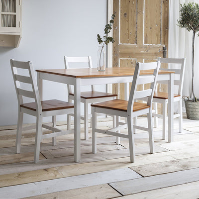 Solid Wood / Dining Table / 4 Chairs - Laura James