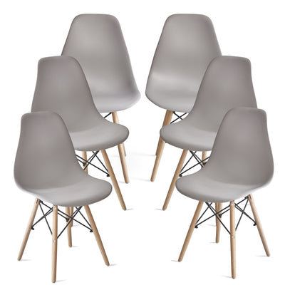 Inge Light Grey Eames Inspired Chair x 6 - Laura James