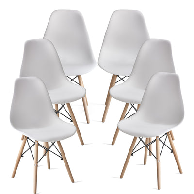 Inge White Eames Inspired Chair x 6 - Laura James