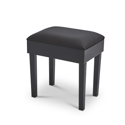 Aleanor Mirrored Dressing Table with Stool - Black - Laura James