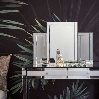 Aleanor Dressing Table, Stool and Tri-Fold Vanity Mirror - In Stock 11th October - Laura James