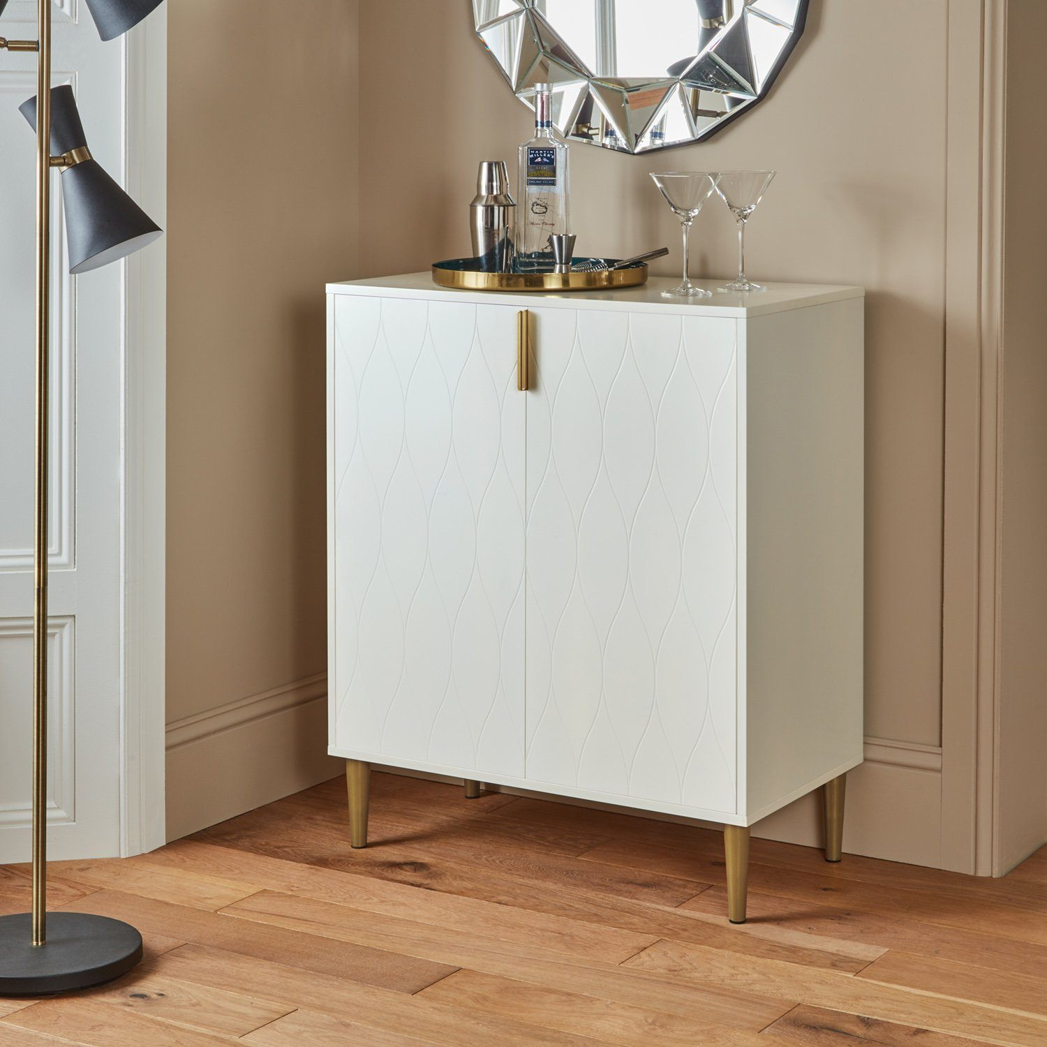 Gloria small sideboard - white - Laura James