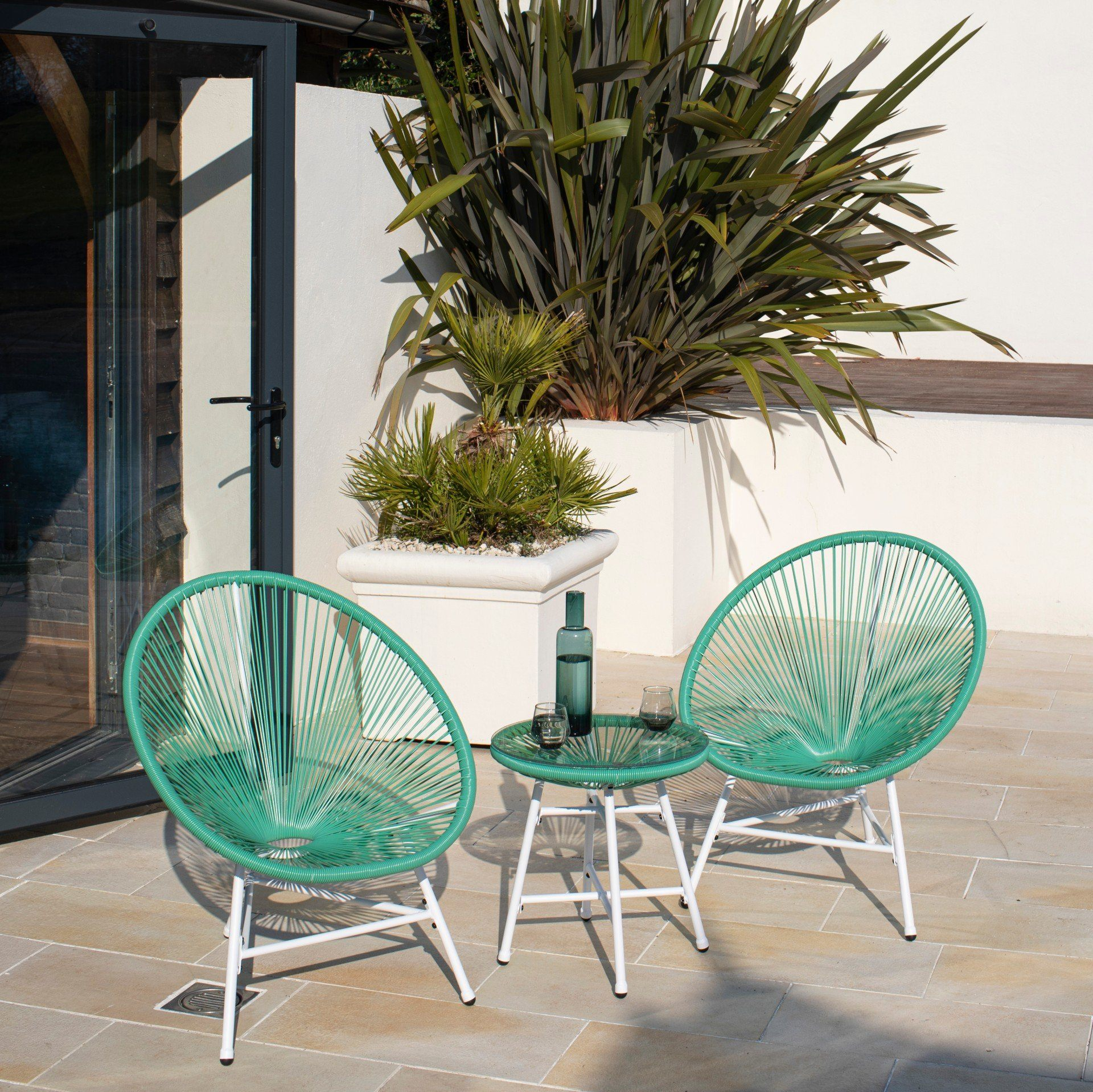 Hebe String Bistro Set - Mint Green - Laura James