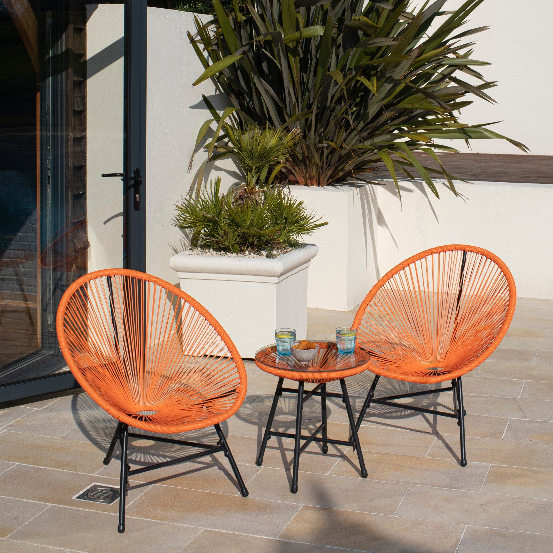 Hebe String Bistro Set - Orange - Laura James