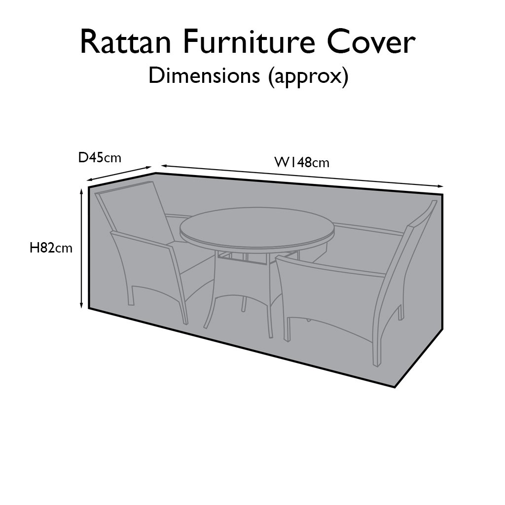 Outdoor Rattan Furniture Cover for 2 Seater Bistro Dining Set - Laura James