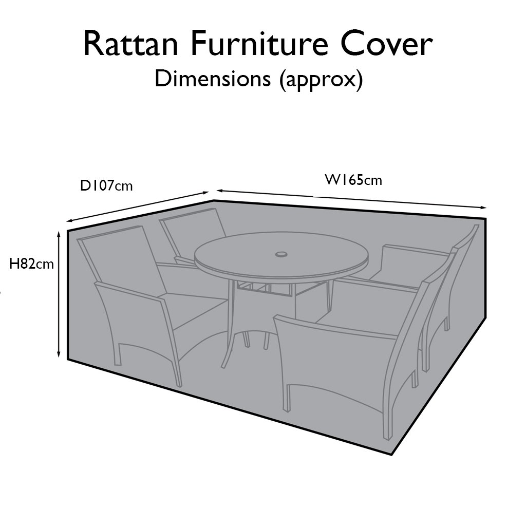 Outdoor Rattan Furniture Cover for 4 Seater Dining Set - Laura James
