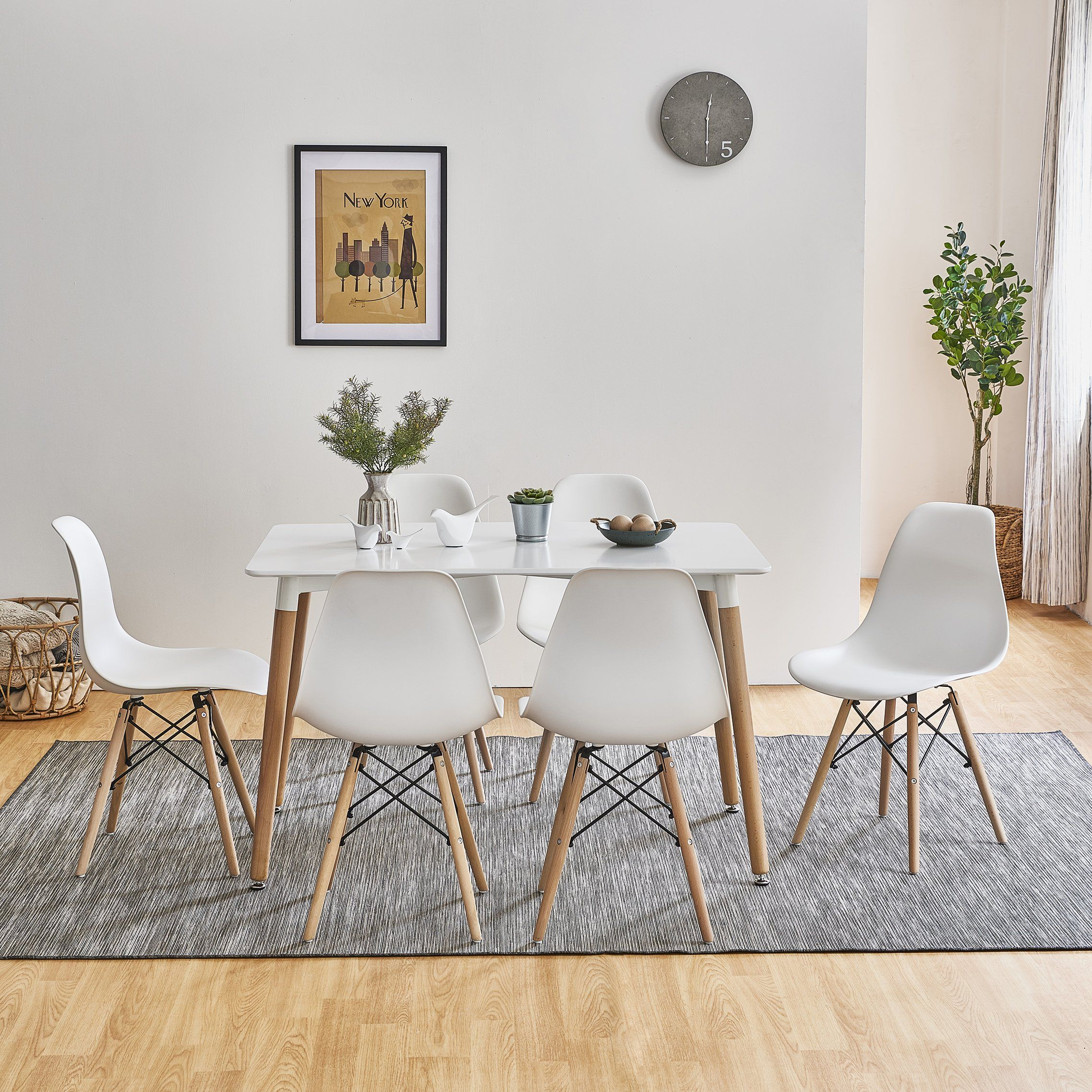 Inge Dining Table And Chairs Set With 6 White Chairs Delivery On Or Laura James