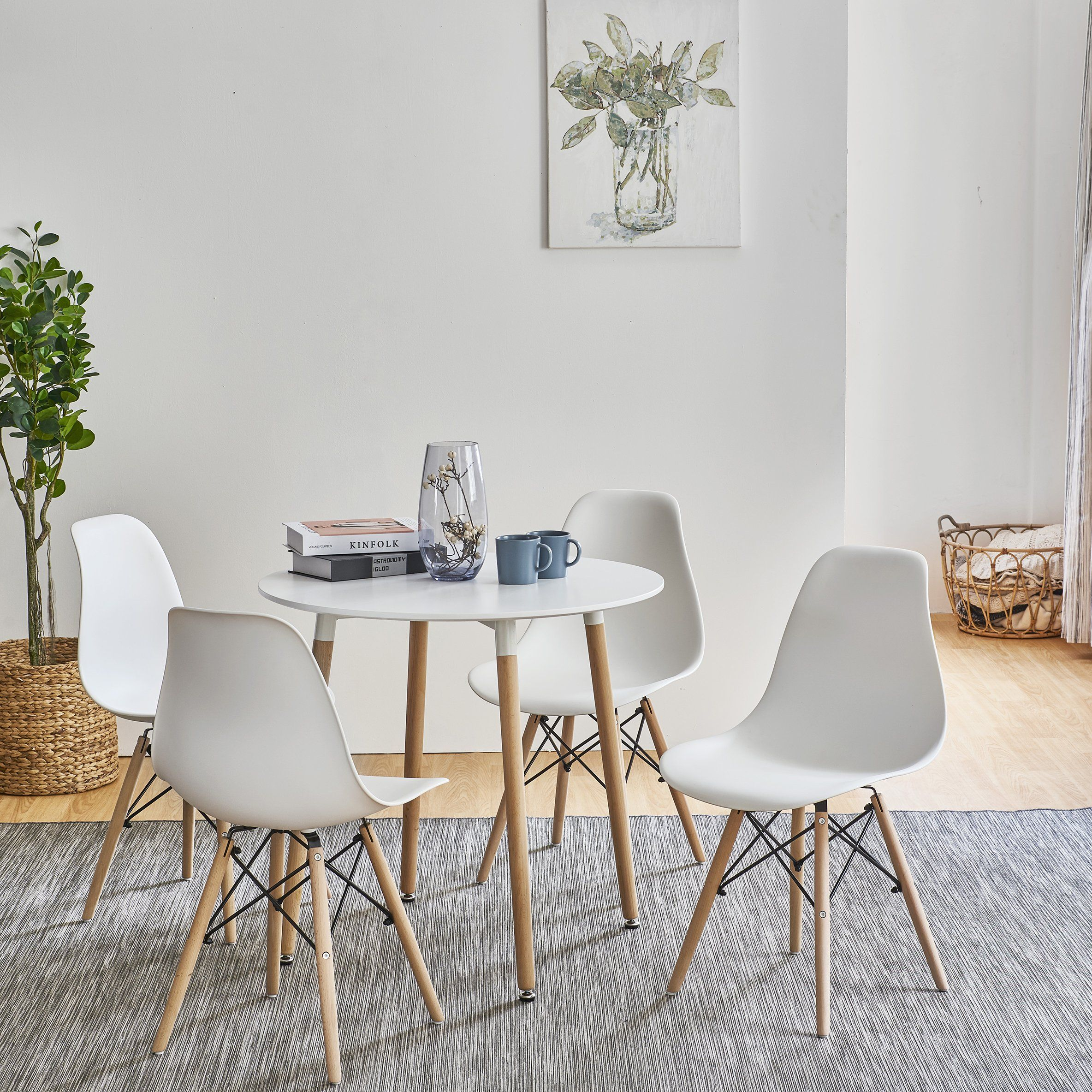 Inge Round Kitchen Table With 4 White Chairs Delivery On Or Before 2 Laura James