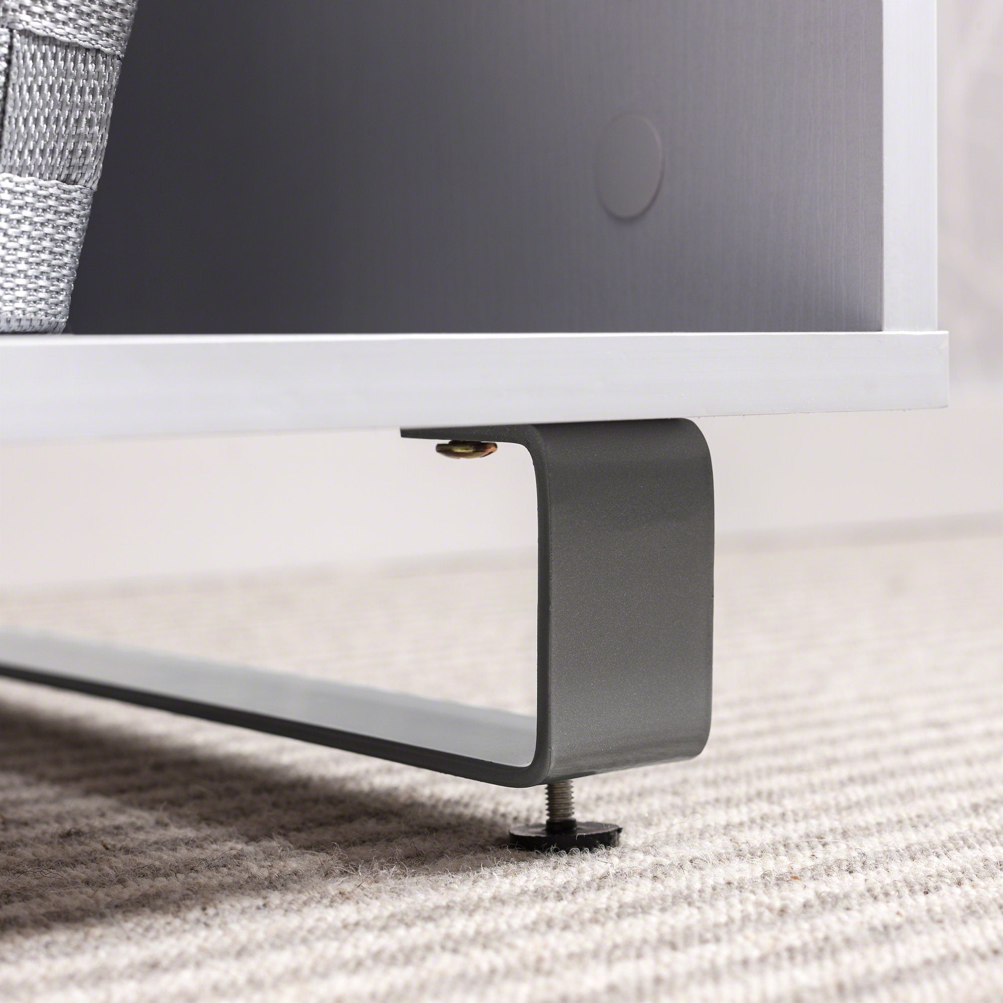 White Tv Stand With Glass Shelf And Storage