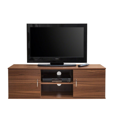 Walnut TV Cabinet with 2 Doors, Storage and Shelf - Laura James
