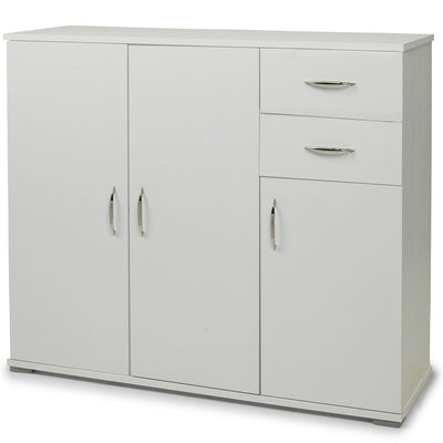 Home Office Cupboard Cabinet in White - Laura James
