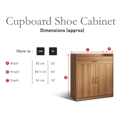 Sideboard – Home Office Cupboard Shoe Cabinet Unit Chest – with drawer and shelves (Beech) - Laura James